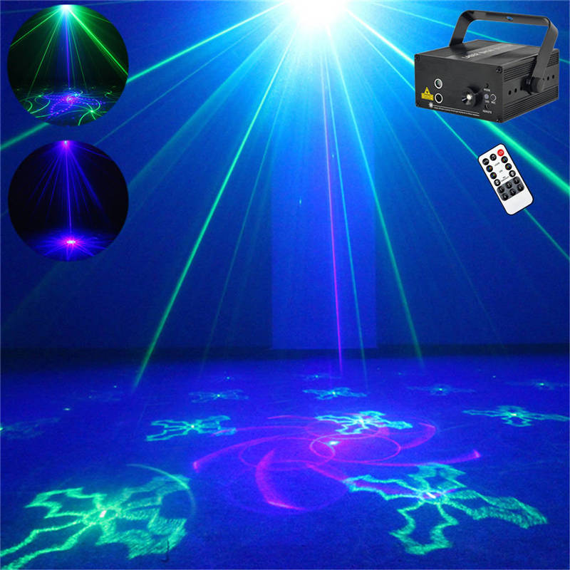AUCD 40 Patterns Green Blue G&B Laser Gpbos Effect Projector 3W Blue LED Mixing Effect DJ KTV Party Wedding Stage Lighting Z40GB