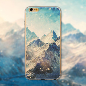 Hensongift Landscape Painting TPU Phone Case For iPhone X 8 8plus Watercolor Soft Back Cover for 6 6s plus