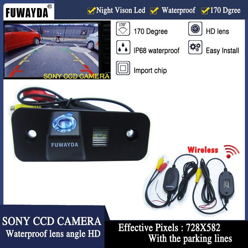 Fuwayda Бесплатная доставка! Беспроводной Sony CCD чип заднего вида Руководство линией справки камера для Hyundai Santa Fe/Azera/Santafe