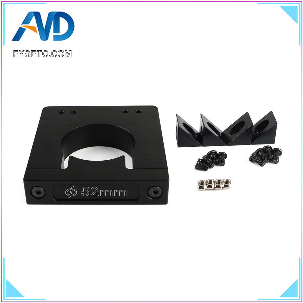 Aluminum Router Spindle Mount kit Diameter 52mm CNC Router Add-On Mouting kit for Workbee OX CNC Makita RT 0700C 3D Printer PartAluminum Router Spindle Mount kit Diameter 52mm CNC Router Add-On Mouting kit for Workbee OX CNC Makita RT 0700C 3D Printer Part