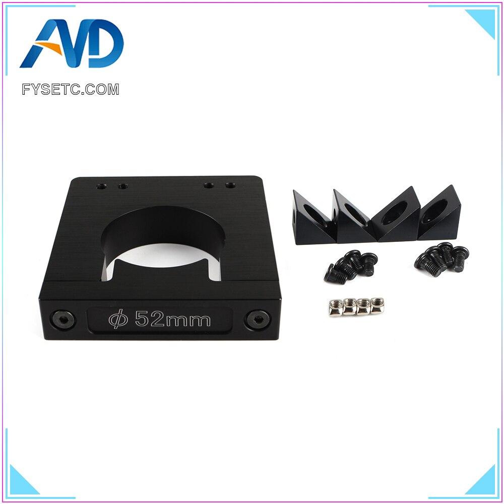 Kit de montagem do eixo do roteador de alumínio diâmetro 52mm cnc roteador add on mouting kit para workbee ox cnc makita rt 0700c impressora 3d parte|Peças e acessórios em 3D| |  - title=