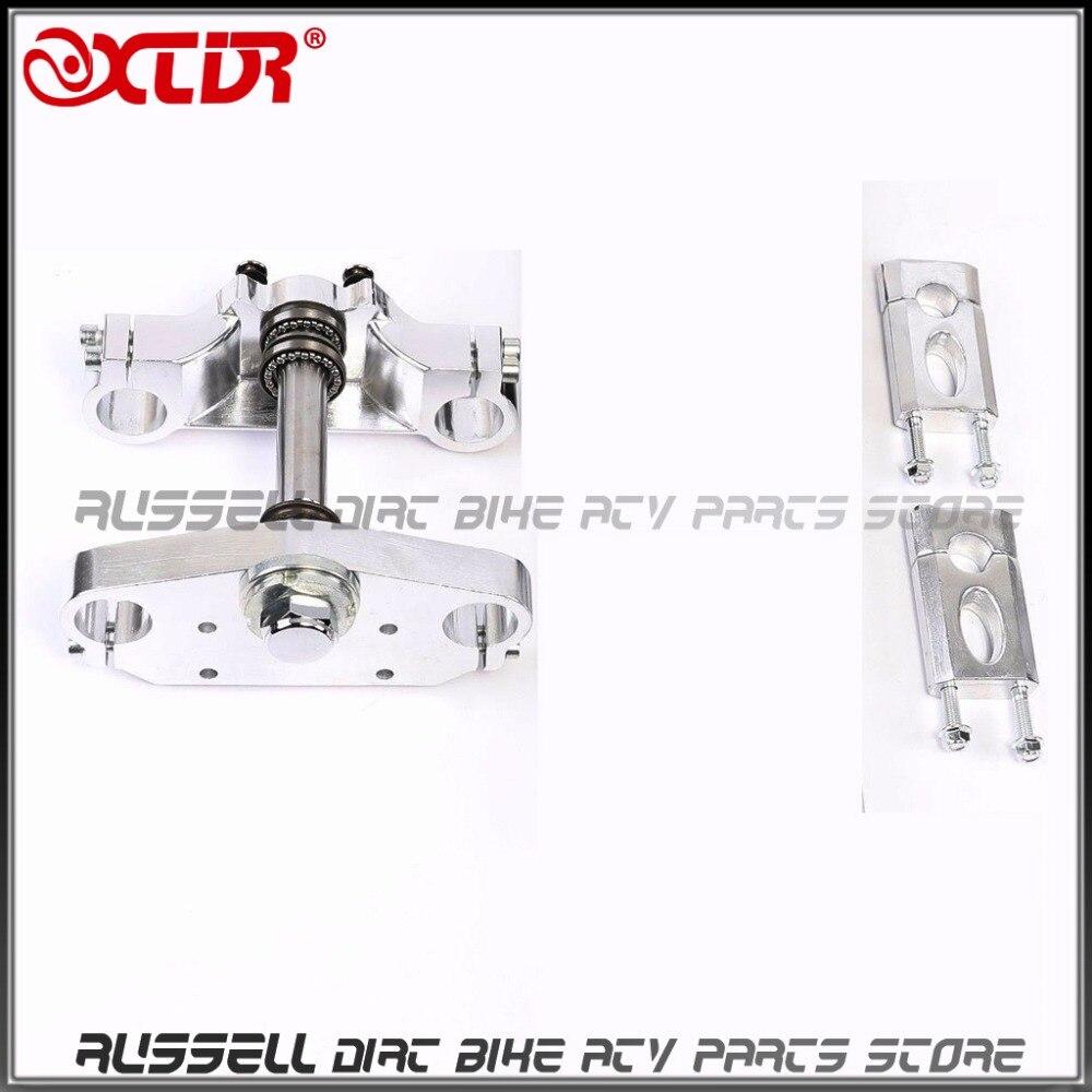 Triple Tree Handlebar Riser Dirt Pit Bike Upside Down 45#48#*735mm Front Fork