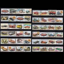 Автомобили 50 шт./лот все разные темы автомобили неиспользованные почтовые марки с почтовой отметкой для сбора почтовых stampel World