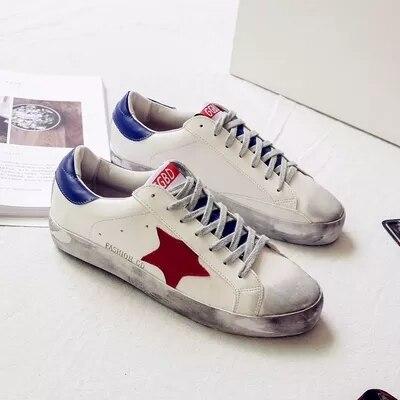 Новые модные плоские маленькие грязной обуви для женщин с перекрестными ремешками яркие звезды с повседневная обувь круглый носок грязной ...