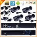 FULL FULL HD 1080 P HI3516C CCTV Sistema de Kit de Vigilância CCTV 4CH PoE Sistema PoE 4CH 1080 P NVR + 4 PCS 1080 P Câmera IP PoE Exterior