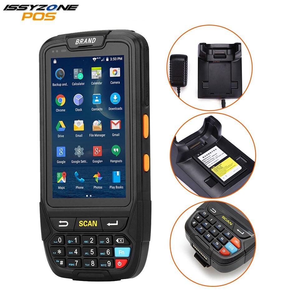 Портативный сканер штрихкодов ISSYZONEPOS на Android 1D 2D, Ручной PDA беспроводной терминал сбора данных, терминал Bluetooth для бразильского рынка