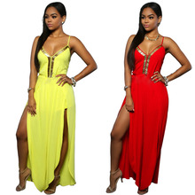 2016 Summer Women's Harem Romper Jumpsuit Coveralls Playsuit With Spaghetti Strap And Deep V-Neck