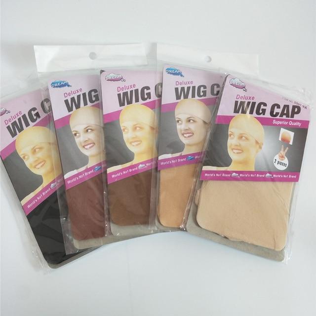 36 peças (18 pacotes) touca de cabelo com elástico 2 unidades/pacote, chapéu para cabelo com tecido de soneca e bege