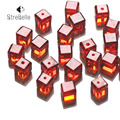 6*6mm 100pcs Beads Crystal Charm Finding Faceted Square Cube Cut Glass Loose Spacer Bracelet earrings pendants Beads