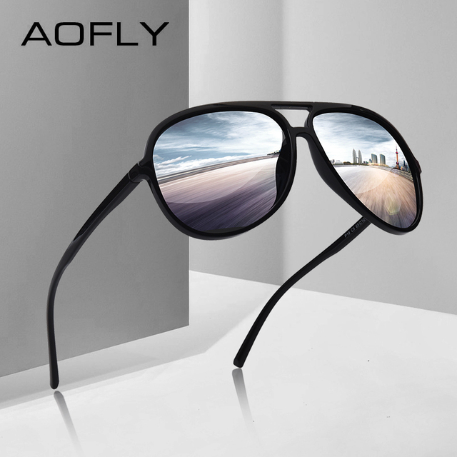 5bb076085a7f AOFLY BRAND DESIGN Ultralight TR90 Pilot Sunglasses Men Polarized Driving  Sun glasses Male Outdoor sports Goggles UV400 AF8080
