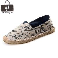 Zuoxiangru 15color New Arrival Retro Bohemian Striped Design Ladies Mens Casual Espadrilles Shoes For Male Unisex