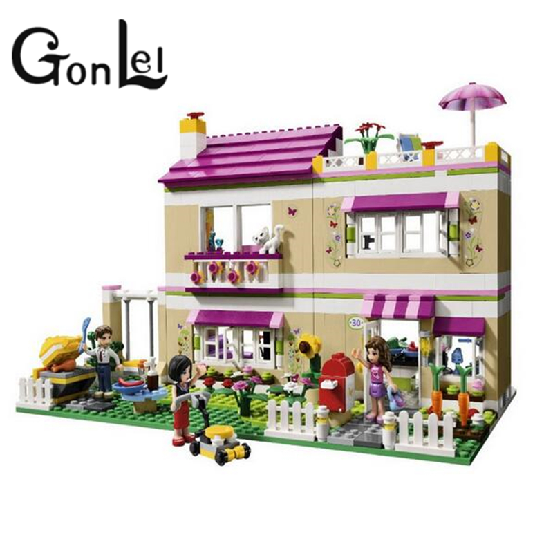 GonLeI 695pcs Girls Set Series City Olivia House Doll Building Brick Block CASA Toy Gift Compatible With 10164 цена и фото