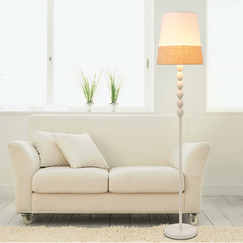 oval ball floor lamp modern standing light for living room iron dual color fabric lampshade indoor cheap floor lighting