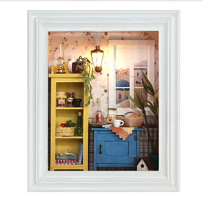 Dollhouse Mini Decoration model Dawnlight diy lamp DIY ...