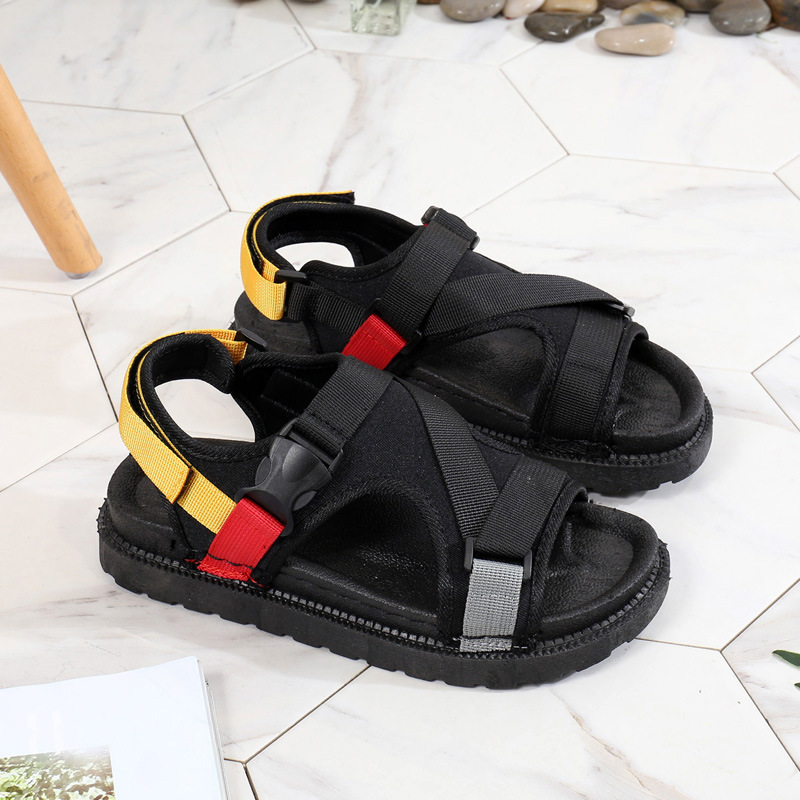 Open Toe Front Rear Strap Flat with Platform Sandals Women Mixed Colors Mixed Colors Casual Ladies Shoes Fashion Basic Sandals 5