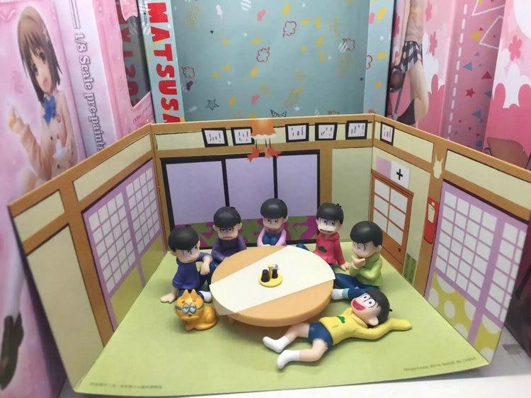 New arrival 5cm Osomatsu San Mr osomatsu san Karamatsu Ichimatsu Mini PVC Figure Collectible Model Toy new six same faces konya wa saikou mr osomatsu san ed anime cosplay nylon wallet osomatsu san bags