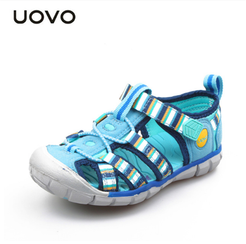 UOVO 2018 New Summer Children Sandals Fashion Baotou Breathable Casual Sandals For Boys And Girls Kids Beach Shoes Size 26#-33#