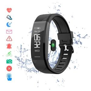 Image 1 - Смарт браслет, водонепроницаемый фитнес браслет, пульсометр, шагомер, трекер активности, монитор сна, Смарт часы