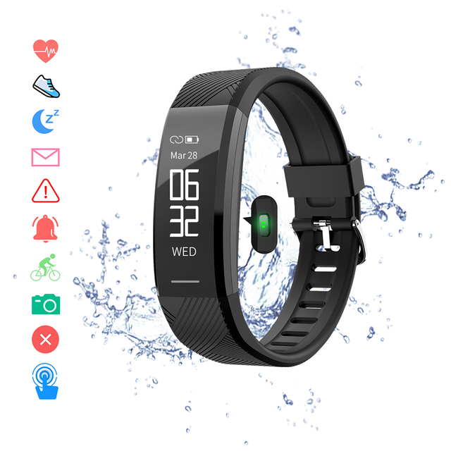 Смарт браслет, водонепроницаемый фитнес браслет, пульсометр, шагомер, трекер активности, монитор сна, Смарт часы