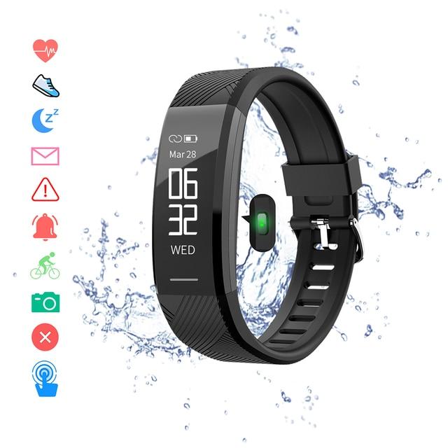 สายรัดข้อมือสมาร์ทกันน้ำฟิตเนสสร้อยข้อมือHeart Rate Monitorวงดนตรีสมาร์ทPedometerกิจกรรมTracker Sleep Monitor Smart Watch