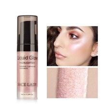 SACE LADY Brand Face Liquid Highlighter Cream Illuminator Makeup Shimmer Glow Make Up Facial Brighten Shine Cosmetic