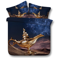 indian 3d star bed linen Aladdin's lamp bedding set kid boy 3/4pc bedspreads full king sizes duvet cover twin queen 500tc woven