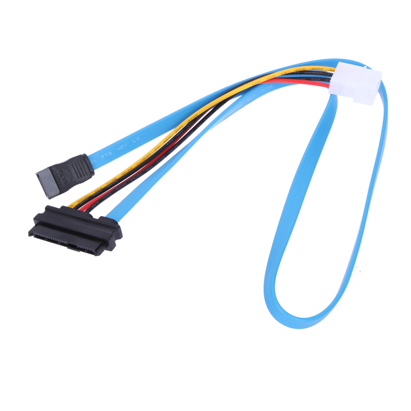 70cm 7 Pin SATA Serial ATA Female To LP4 Male SAS 29 Pin And 4 Pin Female Power Adapter Connector Cable For Computer Brand New