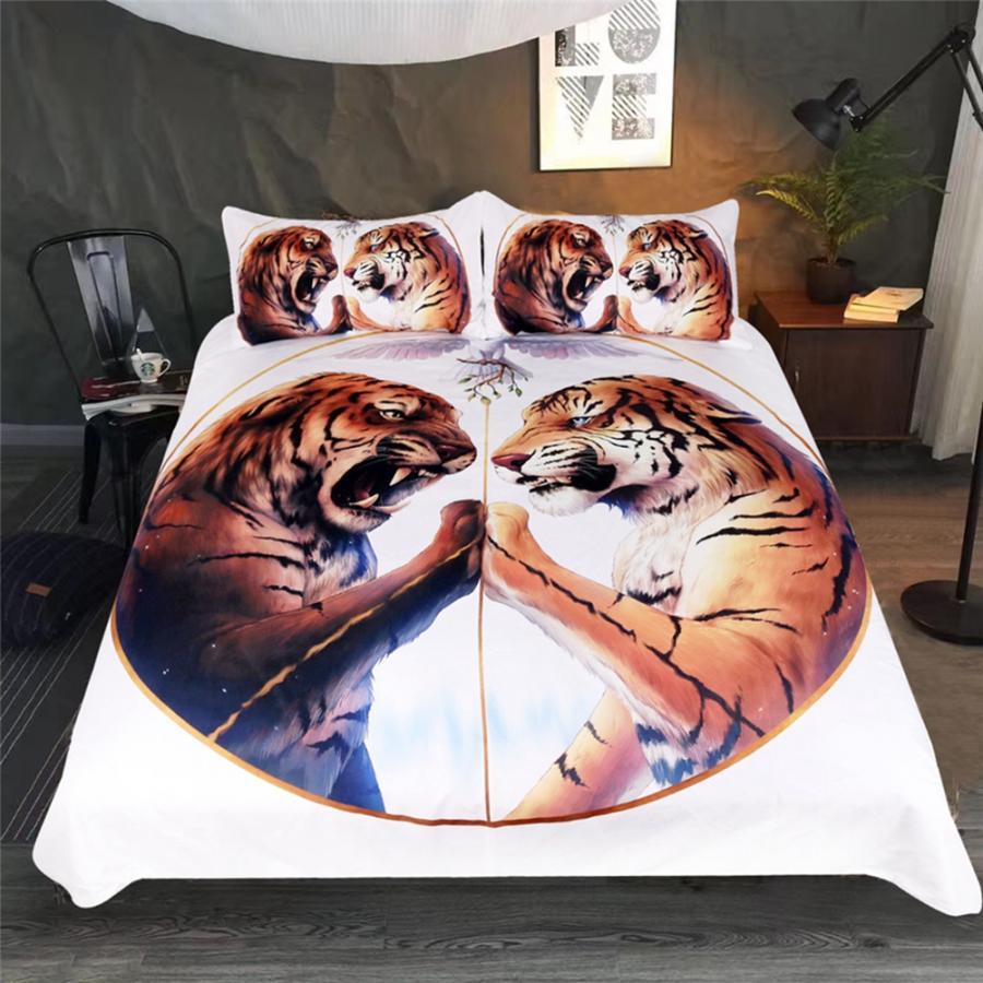Bedding Comforter Bedding Sets 3pcs/set Animal Tiger Pattern Duvet Cover Pillow Cases Soft Bedding Set Bedding Set Comforter