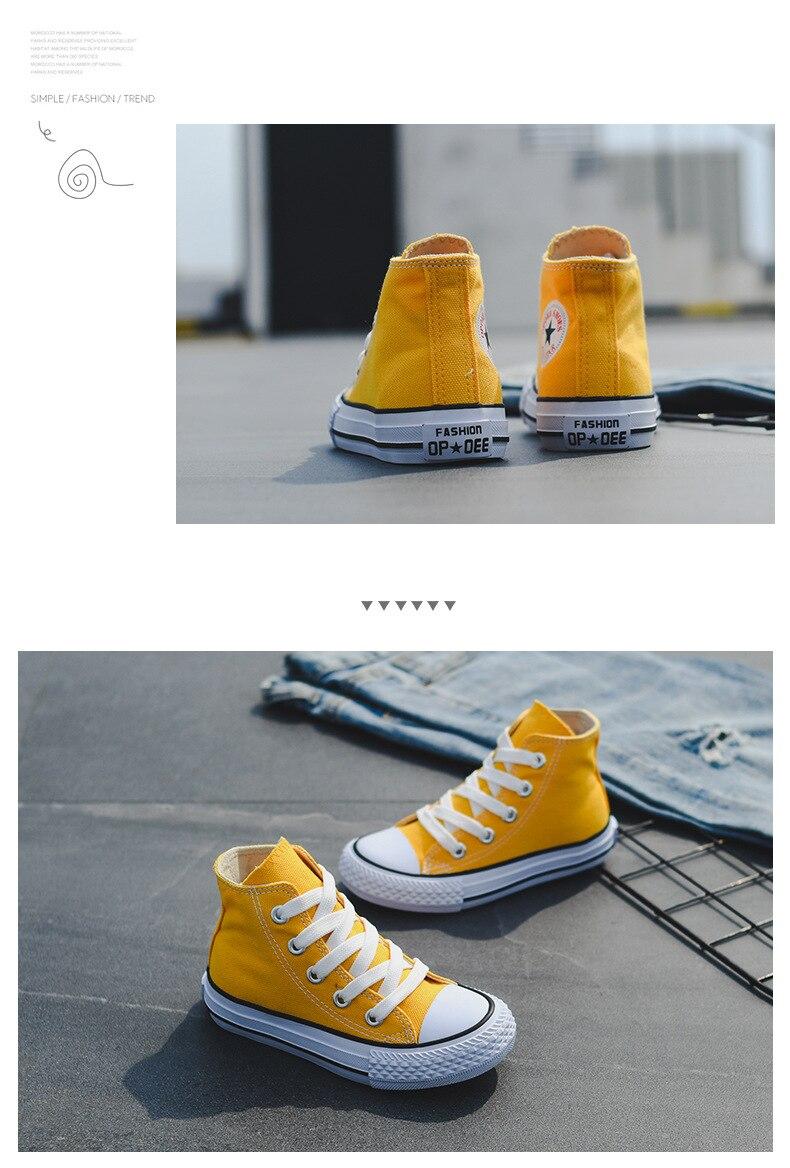 alta parte superior meninas sapatos lona estudante