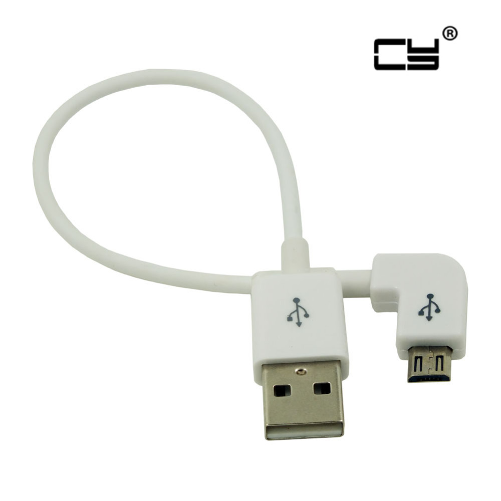 90 degree Short Micro USB Cable 2A 90 Corner Quick Charge USB to Microusb angle Charger Sync Data Fast Charging Cabel Cord 20cm 1 pcs 90 degree right angle direction usb tpye a 5pin right angle micro b male to male adapter data sync charge cable cord