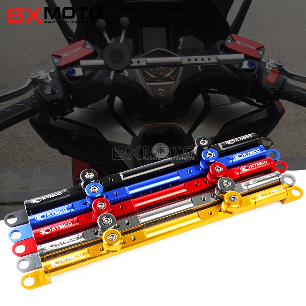 For KYMCO XCITING 250/300/400/400S/500 K-XCT Downtown 300/350i CK250T 300i CNC Aluminum Motorcycle Steering Damper balance lever fx cnc motorcycles folding extendable brake clutch levers aluminum for kymco downtown 125 200 300 350 xciting 250 300 500 400