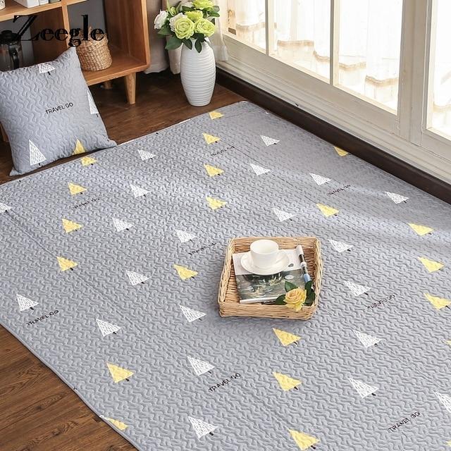 living room floor mats examples zeegle cartoon tatami carpet for soft cotton mat kids bedroom area rug children crawling rugs