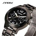 SINOBI Watch Brand Women's Relogios Feminino Fashion Quartz Watches Waterproof Tungsten Round Surface Ladies Black Wristwatches