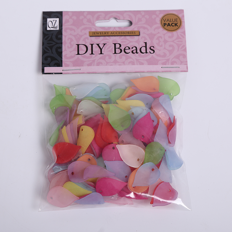 14 * 20mm 150 PCS Acrylic Beads Tembus Kusam Polish Frosted Water - Perhiasan fashion - Foto 5