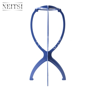 Image 2 - Neitsi Wig Head Stand Hair Accessories/Tools Mannequin Head Stand Wig Holder Blue Color 6pcs/lot