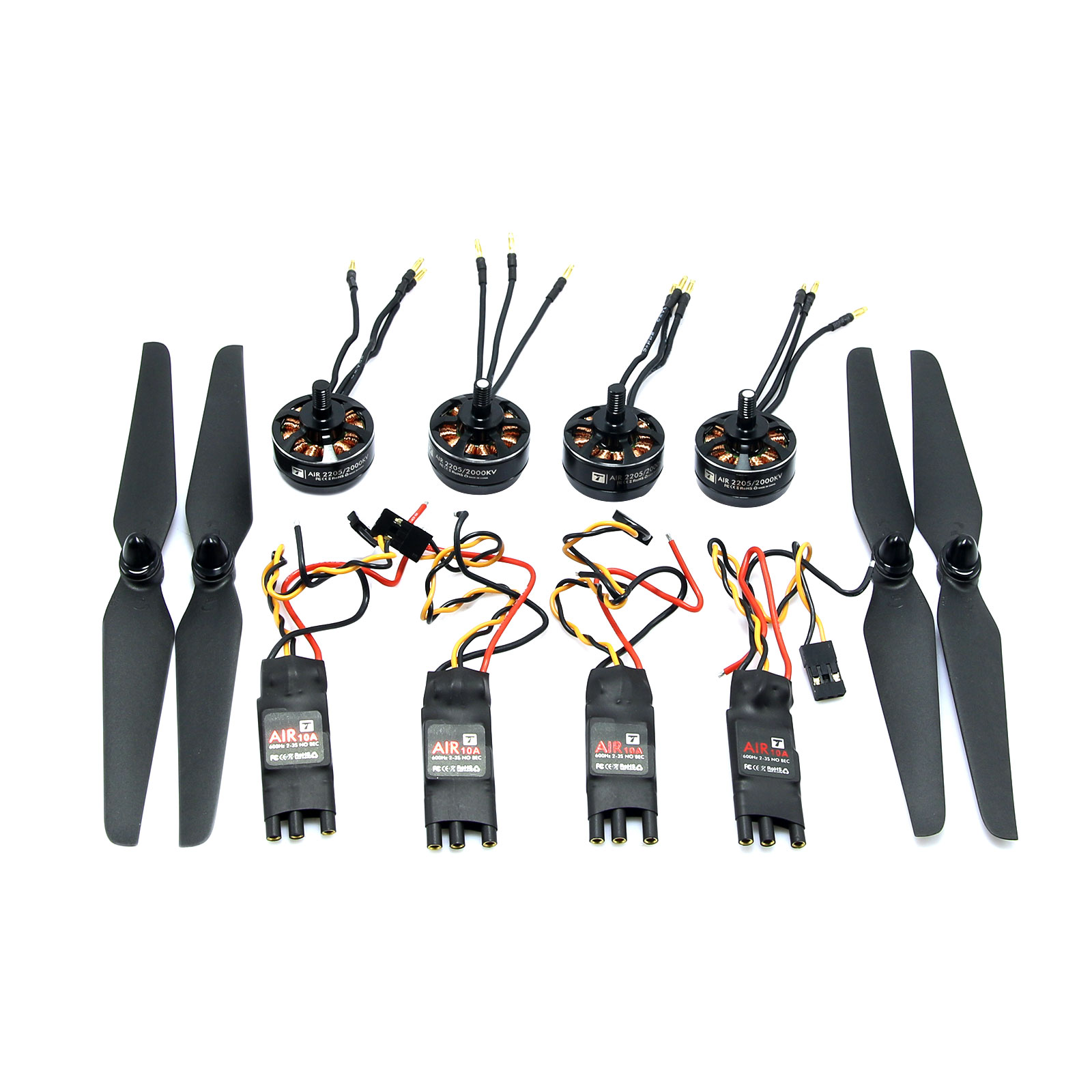 ФОТО T-MOTOR Air Gear 200 Combo AIR2205 KV2000 Brushless Motor & T6535 Prop & AIR10A ESC for Multicopter FPV Photography