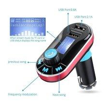T66 Автомобильный MP3-плеер с ЖК-дисплей Экран Dual USB Автомобильное Зарядное устройство TF карта Солт fm-передатчик Дистанционное управление Авто аудио плеер