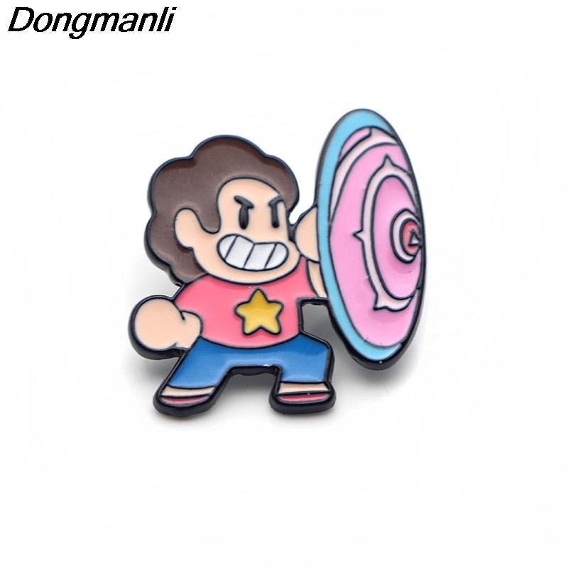 P3069 Wholesale 20pcs lot Steven Universe Metal Enamel Pins and Brooches for Women Men Lapel Pin
