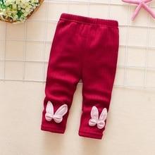 2017 new autumn winter plus velvet warm Cute girls leggings 0-5year baby pants children girls pants