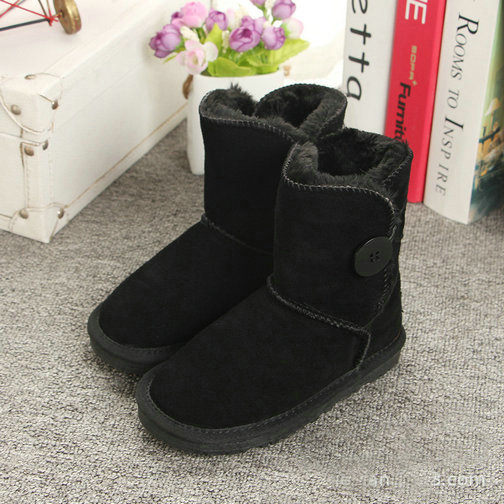 2018 Snow Boots Kids Winter Genuine Leather Boots For Girls Boys New Fur Buckle Shoes Children Boots With Fur Warm Botas 2018 new girls fur one snow boots winter 2018 new children s net red children s shoes parent child warm cotton shoes lace