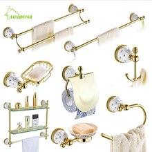 Наборы аксессуаров для ванной комнаты со звездами и бриллиантами, наборы аксессуаров для ванной комнаты из латуни и золота, настенные Товары для ванной