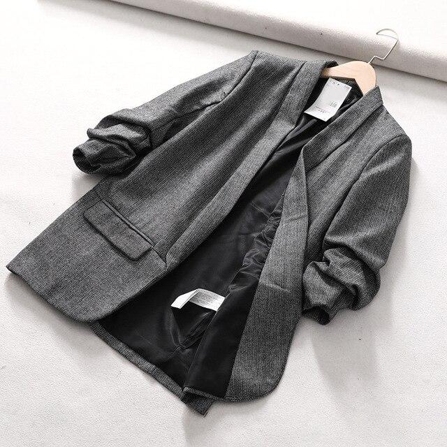 Blazer Women Tweed Vintage...