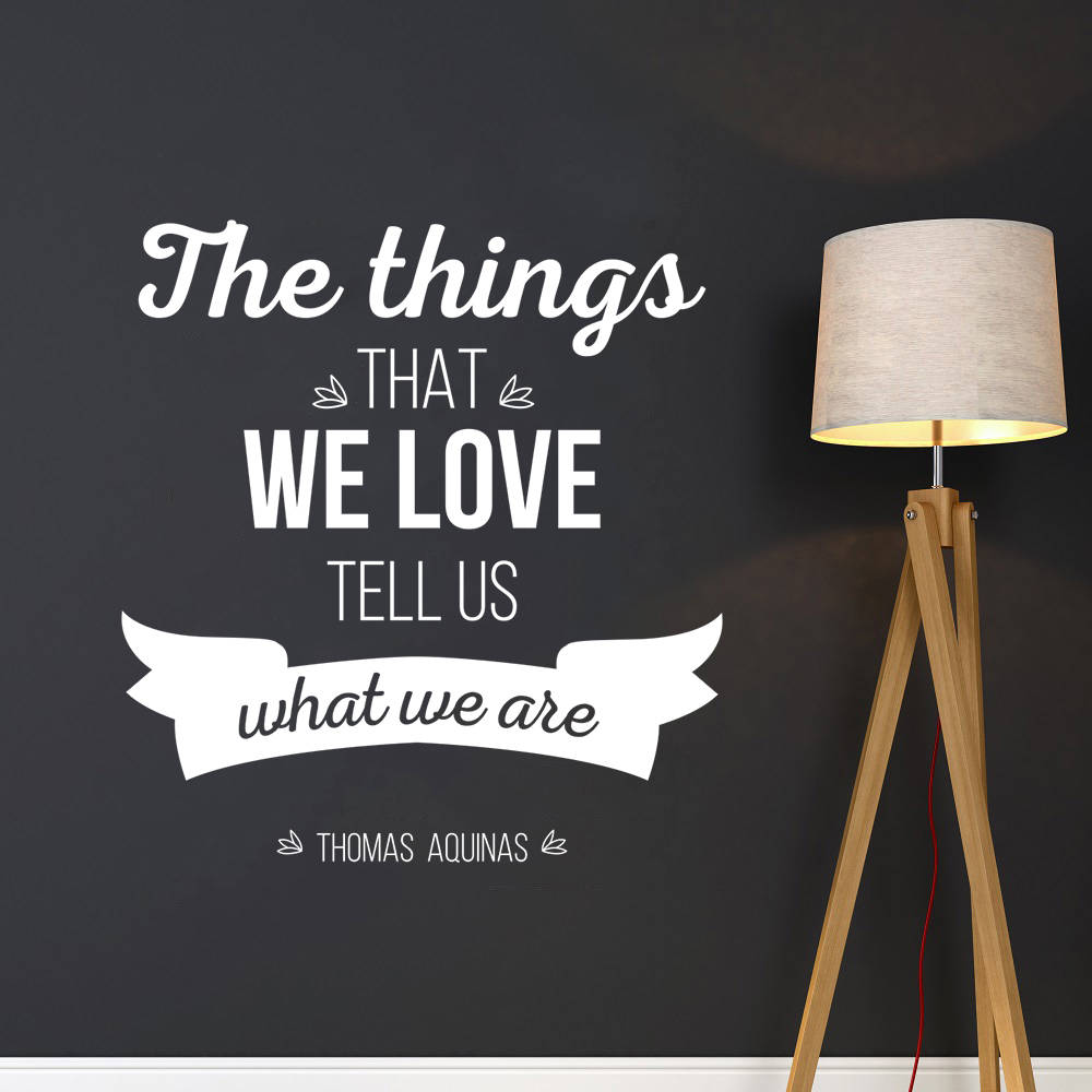 Studio Wall Decal What We Are Wall Sticker Removable Studio Quote Wall Poster Office Thomas Aquinas Wall Art Mural Decor AY062