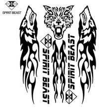 SPIRIT BEAST Reflective 3D Motorcycle Sticker Fuel Oil Tank Pad Decal Protector Cover Black Sliver Universal