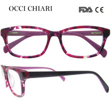 82dc8a1a84c OCCI CHIARI 2018 Fashion Rectangle Acetate Trendy Optical Glasses Frame  Women Clear Lens No Degree Eyeglasses Spectacles W-CANDI
