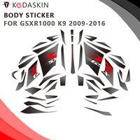 KODASKIN Motorcycle body sticker 2D Decal Emblem Decal Stickers for SUZUKI GSXR1000 K9 2009 2016