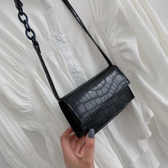 Mini Stone Pattern Crossbody Bags For Women 2020 Pu Leather Purses and Handbags New Designer Ladies Shoulder Messenger Bag 1