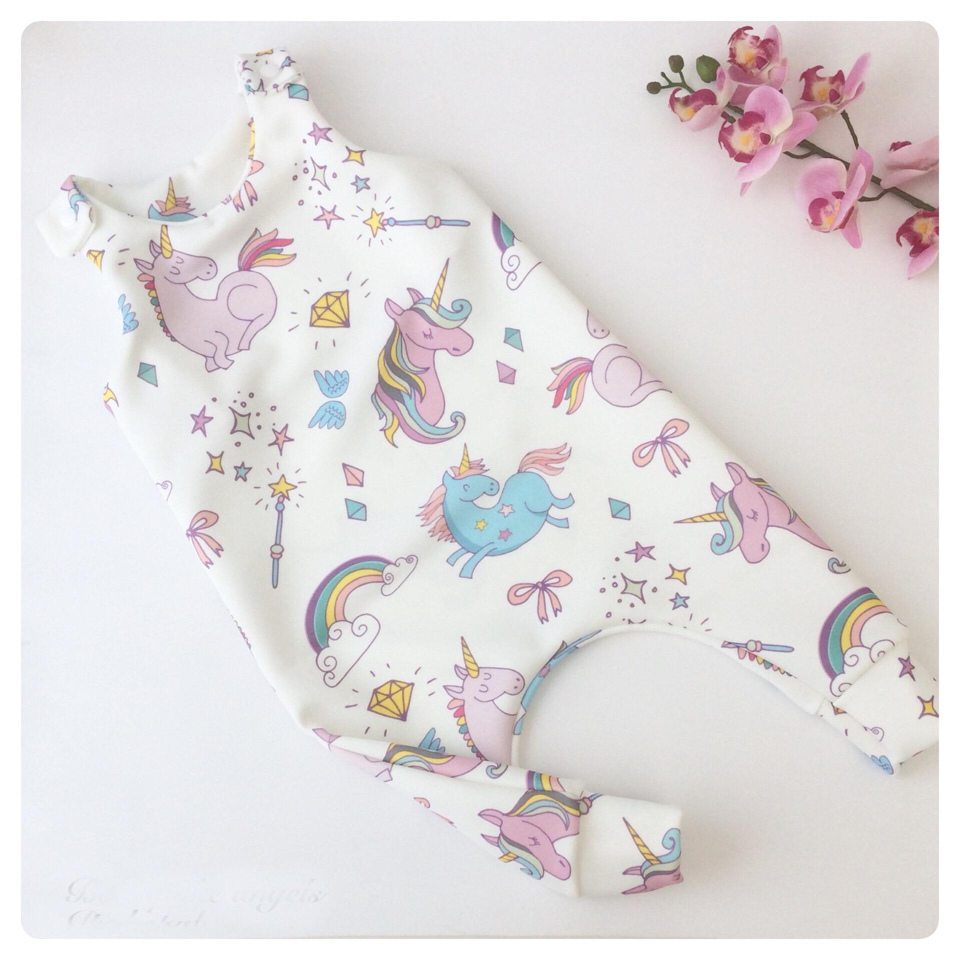Summer Baby Girls Clothes Newborn   Rompers   Cartoon Unicorn   Romper   Baby Overalls