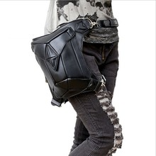 PU leather Steampunk bag Holster Purse carteras mujer bag thigh Motor leg Outlaw Pack Pocket women bag