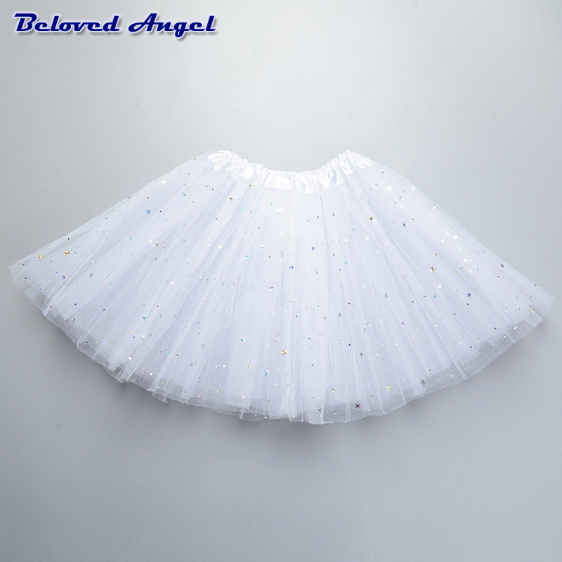 Fluffy Chiffon Tulle tutu skirt colorful cheap girl skirt dance skirt Baby Girl Clothes kids Clothing Birthday Gift Party Wear 2